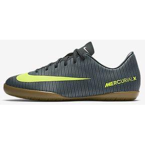 e7b4a0e769758b Tenis Indoor Nike Mercurialx Vortex CR7-Negro/Amarillo Fosforescente