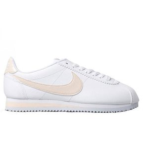b60bb8aa Tenis Mujer Nike Classic Cortez Leather-Blanco con Beige