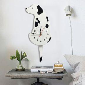 bb35972dce8f Reloj de pared con forma de perro y decoración para el hogar
