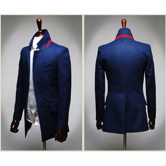 5b2cb5a71d Azul Para Color Elegante De Estilo Blazer Compra Chaqueta Hombres SxT8HH