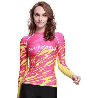 b8b8b224bd8b Manga Larga Camisetas Surf De Mujer Traje De Baño Proteccion Solar Digital30