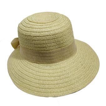 4632a41ee1c40 Compra Sombrero Visera Playa Sol Viaje Elegante Gorro Mujer BEIGE ...