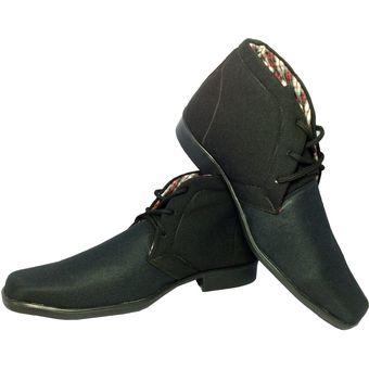 126a11af Compra Zapatos En Microfibra Tipo Bota Para Hombre Lazaretto Negro ...