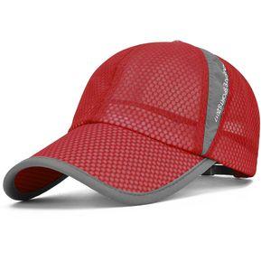 Gorra De Béisbol UV Cut Running Sun Hat Para Hombres Y Mujeres - Rojo 37d8d621cbd