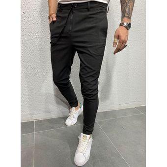 Mallas De Tela Para Correr Para Hombre Pantalones Largos Ajustados Ocio Estilo Europeo Y Americano Wot Black Linio Colombia Ge063fa0yl5t7lco