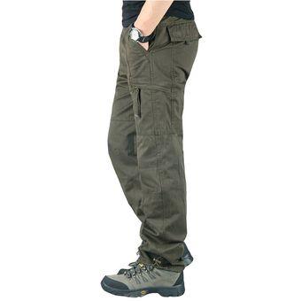 Pantalones Cargo Para Hombre Pantalones Tacticos Militares Informales Con Multiples Bolsillos Pantalones De Chandal Para Hombre Pantalones Rectos Largos De Talla Grande Chun Black Linio Peru Ge582fa0ag1ajlpe