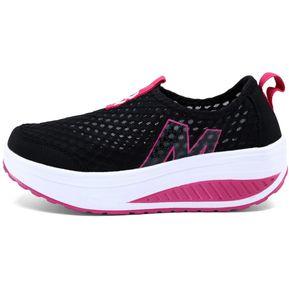 3bbeecd812a64 Zapatillas De Deporte De Malla Transpirable Para Mujer -negro