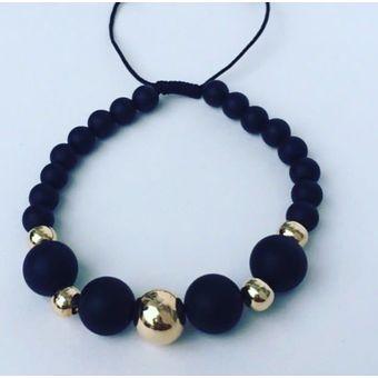 ae9176fb018c Compra Manilla De Oro 18 Quilates - Negra  Blanca online