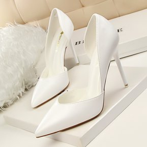 Zapatos De Tacones Altos De Moda Bombas De Mujer-Blanco 0c86b56508cb