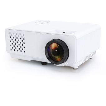 Rd-810 800 * 768 1200 Lumens Mini Proyector LED HD Home Theater Con Control Remoto, Soporte USB + VGA + HDMI + AV (blanco)