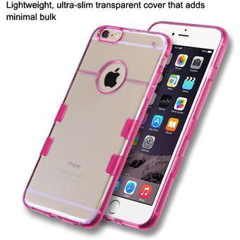 ad9baa464ec Compra Funda Protector Case Transparente para iPhone 6 Plus-Rosa ...