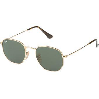 Gafas De Sol Ray Ban Hexagonal Flat Lenses RB 3548N 001 Dorado - Verde dc8e6a2ac1