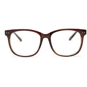 aebb4cf4a4 Agotado Moda Las Lentes ópticas Hipster Gafas Grande Cuadrado Los Anteojos  Marco Miopía -Té