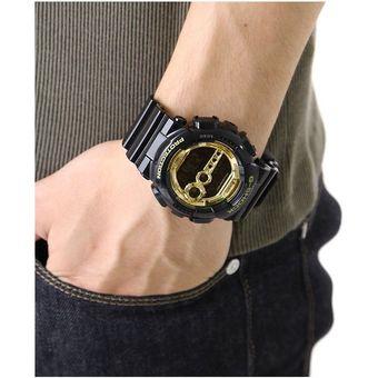 100gb Dorado Automática Gd Casio Negro G Reloj Brillante 1 Digital Luz Shock Acuático TFKc1lJ