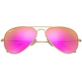 383537f755 ... store lentes de sol ray ban aviator flash lenses rb3025 112 4t dorado  rosado 52cc2 5ad4e
