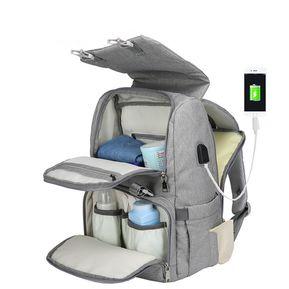 277f5c828 Mochila mami con carga USB y bolsa de pañales para bebés y mochila de viaje  de
