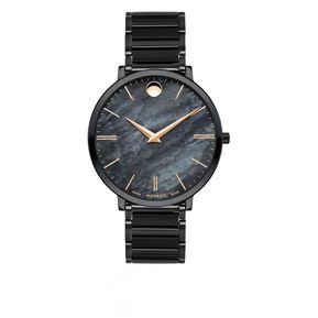 12f14e608190 Reloj Movado 607211 Negro Mujer Acero Inoxidable