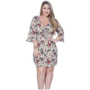 9e19a3a59 Vestido Adulto Femenino Marketing Personal 81926 Marfil Estampado