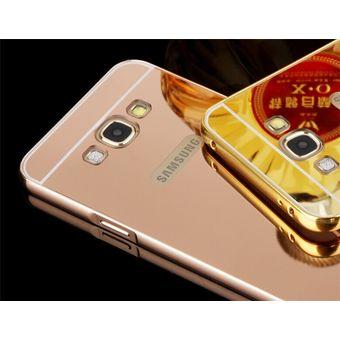 c98a2941108 Case Funda Bumper Aluminio Tipo Espejo Metálico Protector Para Samsung E7