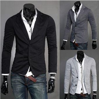 d3af2055b69a3 Compra Chaqueta Casual Para Hombre -gris Oscuro online
