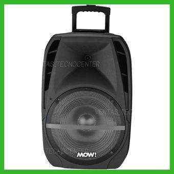 d028be0e39d Agotado Bafle Recargable Mow! Bluetooth Led Microfono Radio Fm Usb-Negro