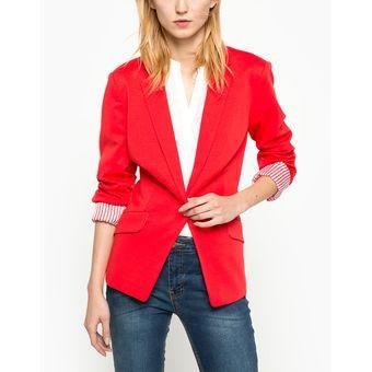 Saco De Vestir Uclub Para Mujer Rojo