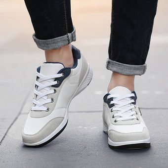 estética de lujo ropa deportiva de alto rendimiento salida online Zapatillas Casual Hombre Negro Blanco Zapatillas Hombre Exterior