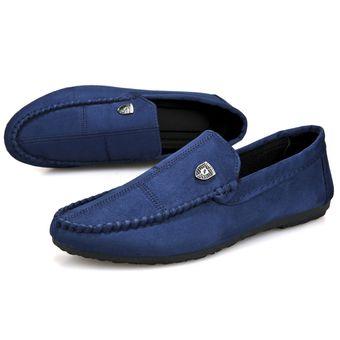 nuevo estilo f4c9b f32f5 Zapatos de moda para hombre Mocasines casuales Zapatos sin cordones-Azul