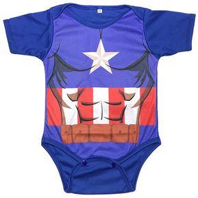 9d726454e Bodie Body Mameluco Bebe Diseño Superheroes Capitan America
