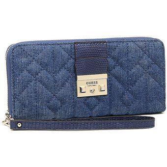 18d5d650 Billetera Guess Kalen Jean - Azul