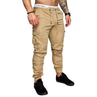f53c642d00db1 Compra Casual Multi-bolsillo Harén Pantalones Joggers Para Hombres ...