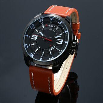 3145f92b1712 Compra Reloj Pulsera Cuero Hombres Negro online