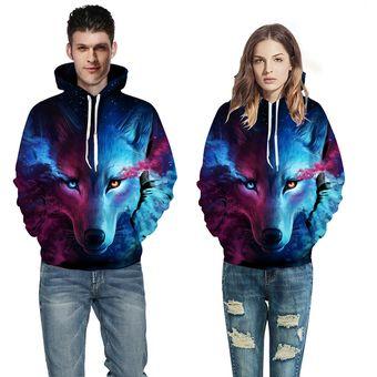 Sudadera Hoodie Compra Lion Wolf Grafica 3d Chaqueta Sweater Print 4XX0f6wxq