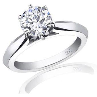 a8592861c905 Anillo De Compromiso Solitario S30 De Oro Blanco De 14Kt Con Diamante  Natural Certificado De .