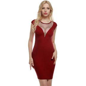 10e4aa88fbcbc Vestido De Punto Fino Para Mujer-Rojo De Vino