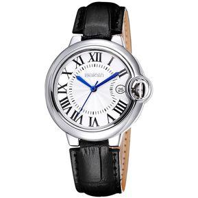 9443aa873540 WeiQin Mujer Reloj De Pulsera De Cuarzo Con Banda De Cuero Del Calendario