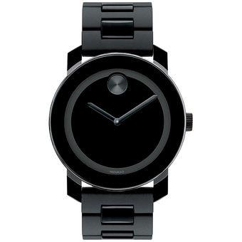 6576f6bc013b Compra Reloj Movado Bold 3600047 Suizo Acero Inoxidable - Negro ...