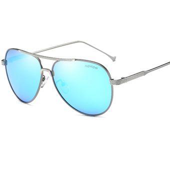 b7f831cf61 Gafas Lentes De Sol Aoron Sunglass A225 Aviator Gris Con Azul