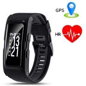 9b788029e73 Reloj Smartwatch, Shuua T28 GPS Smart Pulsera Bluetooth Deportes  Impermeable Smartband Para IPhone Android -