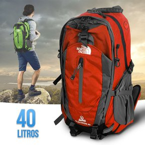 743c147379fe2 Morral 40 Litros Maletin The North Face Mochila Impermeable Camping Naranja  RF 217
