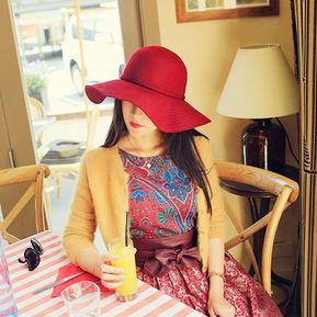 f1f2c09570b6e Inglaterra Mujer Grandes Estilo Sombrero De Fieltro De Ala Ancha Vintage  Floppy Cloche Cap