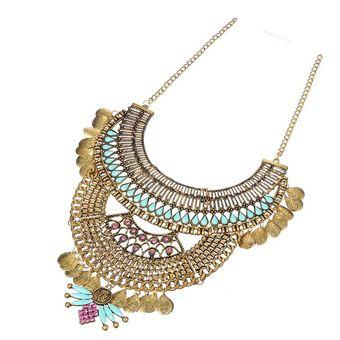 6ad2552a599e Compra Collar Harmonie Accesorios Multicapas Vintage-Dorado online ...