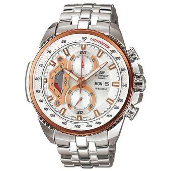 ff389f2221a1 Agotado Reloj Casio Edifice EF-558D-7AV Analógico Hombre - Plateado y Dorado