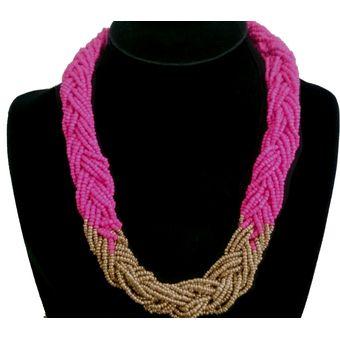0e01efc5647c Compra Collar Harmonie Accesorios Multicapa Mostacilla Rosado online ...