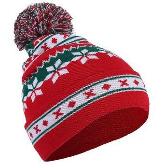 EH Navidad Papa Noel Snowflak Beanie Halloween Sombrero De Lana Tejida 2832354b7f5