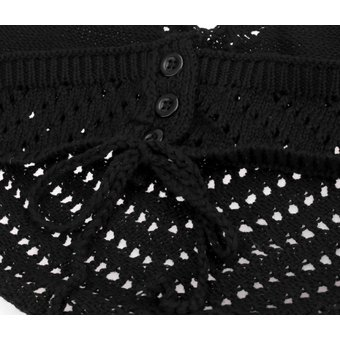 Compra Crop Top Halter Crochet Para Mujer-Negro online  8789b85bfc9