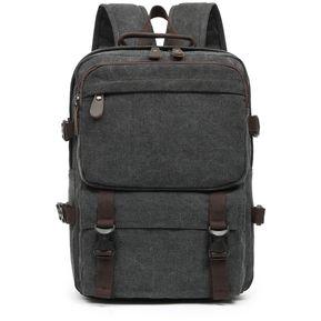 6408f8ae68c Mochila De Lona 24L Para Hombre Casual Daypack Deportivo -negro