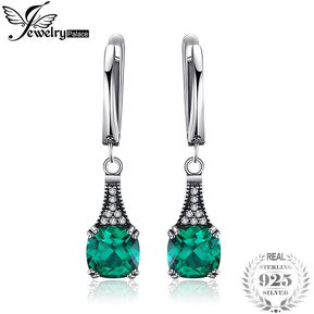 d141c0455bf4 Pendientes Jewelrypalace Nano Ruso Esmeralda Simulada 925 Plata Esterlina