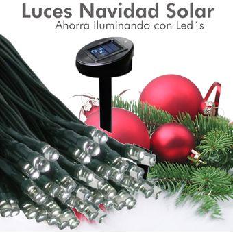 7fab527bf25 Serie Navideña Solar 100 Leds 12 Metros Sin Gasto De Luz Automatica Dia y  Noche.