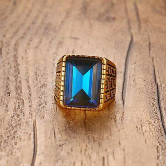 b90df9635e79 18MM de la joyería de acero inoxidable marca Tide hombres de diamantes- Azul